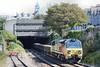 70804 6C24 Westbury - Par emerging from Mutley Tunnel 26.09.15