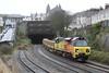 70807 6C24 Westbury - Truro Yard emerging from Mutley Tunnel 05.02.16