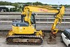 Quattro Plant Komatsu PC128US No: 529 UIC:  99709 911167-3 stabled in the staff Car Park 23.09.16