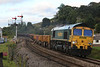 66566 6Y16 Crewe Basford Hall - Severn Tunnel rattling past Pontrilas 21.09.13