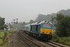 67001 + 10249 12178 12179 12181 82308 1V31 Holyhead - Cardiff Central passing a very muggy Pontrilas 25.09.13