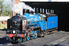 """GN outline two-cylinder 4-6-2 Pacific locomotive """"Hurricane"""" is prepared for duty 15.10.11"""