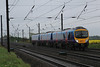 185111 1P38 Manchester Airport - Middlesbrough on the Down Fast through Shipton 25.04.14