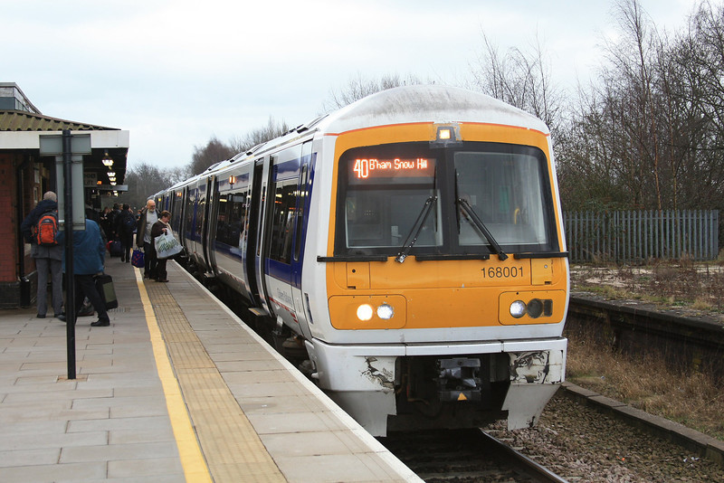 168001 calls with a train to Birmingham Snow Hill 17.03.12