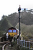 66066 6C53 Drinnick Mill - Exeter Riverside waits to push back into St Blazey Yard 14.02.13