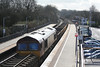 66207 on a mixed rake loaded with spoil shutdown in Tiverton Parkway 27.03.11