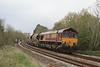 66107 6C39 St Blazey - Newport ADJ with loaded JIAs & empty TTAs 03.05.12