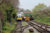 03144 shunting ECS next to RDB975874 Leyland Rail Bus 23.04.14
