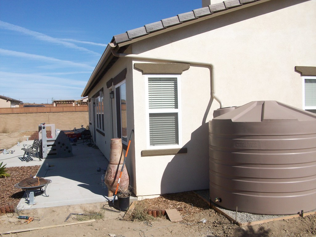 Murrieta California, two 1,320 gallon Bushman Cisterns