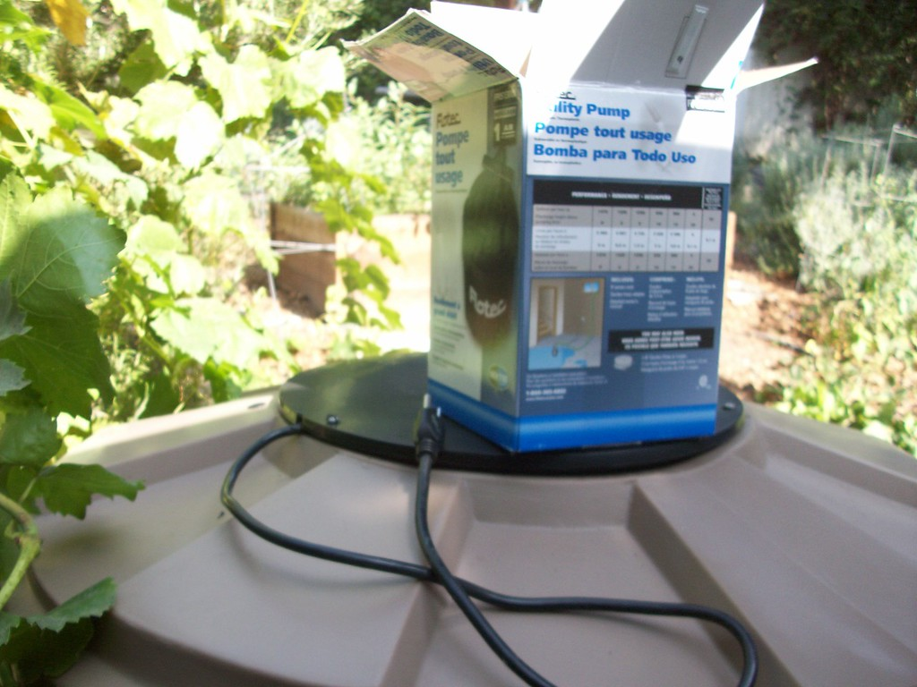 "We are having good luck with these inexpensive Flotech utility pumps.<br /> <br />  <a href=""http://www.rain-watersystems.com/"">http://www.rain-watersystems.com/</a>"