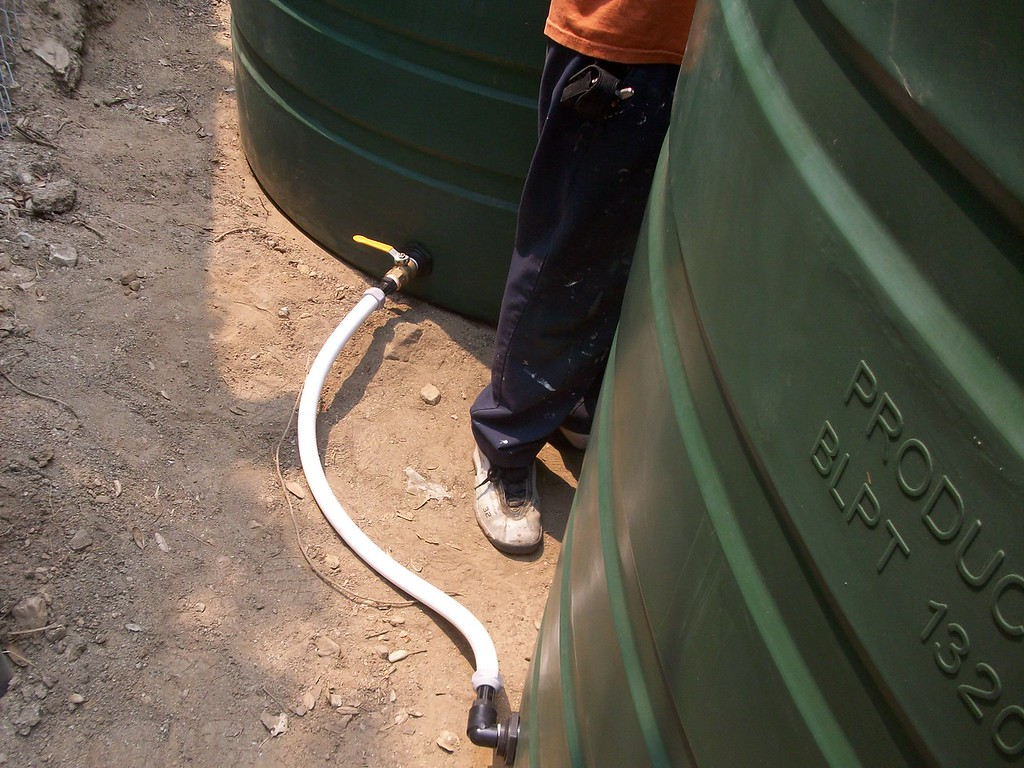 """Our process has evolved to include ball valves between both tanks so that if there is a problem the water is not lost.<br /> <br />  <a href=""""http://www.rain-watersystems.com/"""">http://www.rain-watersystems.com/</a>"""