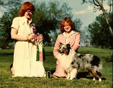 BEST JUNIOR HANDLER  -  ASSA National Specialty 1980<br /> Elizabeth Ruggles with CH. Babinette Buttermilk Sky<br /> judge - Charlotte McGowen