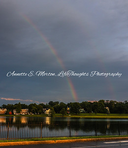 """Rainbow at the Bello"" Lake Montebello, Baltimore MD"