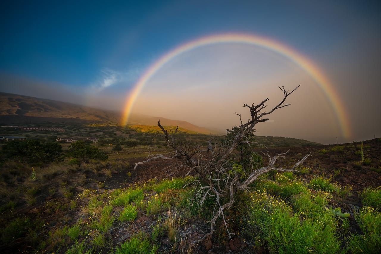 Mauna Kea rainbow.