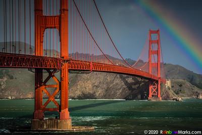 Golden Gate Bridge under the Rainbow
