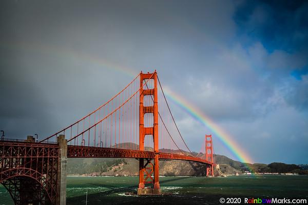 San Francisco Golden Gate Bridge in the Rainbow