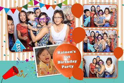 Rainen's 1st Birthday Party (Fusion Photo Booth)