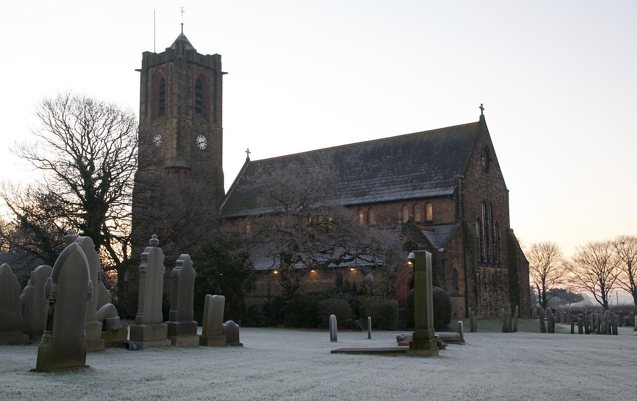 Rainford Church early Sunday morning