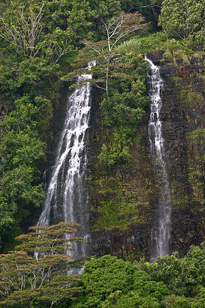 Opaeka'a Falls, located on the Wailua River in Wailua River State Park, east Kaua'i.