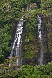 Opaeka'a Falls, located on the Wailua River in Wailua River State Park, east Kaua'i.
