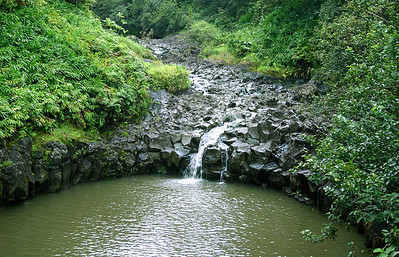 A runoff pool, the Hana Highway.