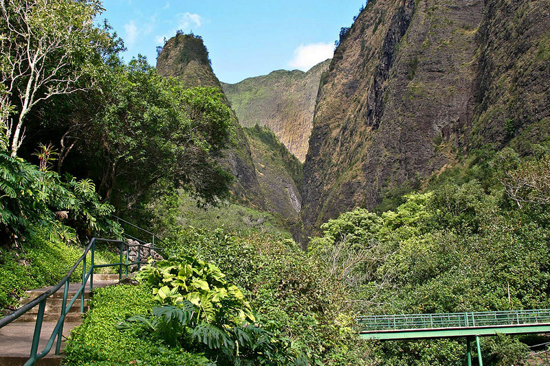 "Even paved hiking trails and steel pedestrian bridges can't take away the magic and feeling of ""Mana"" in I'oa Valley, in the heart of the West Maui Mountains."