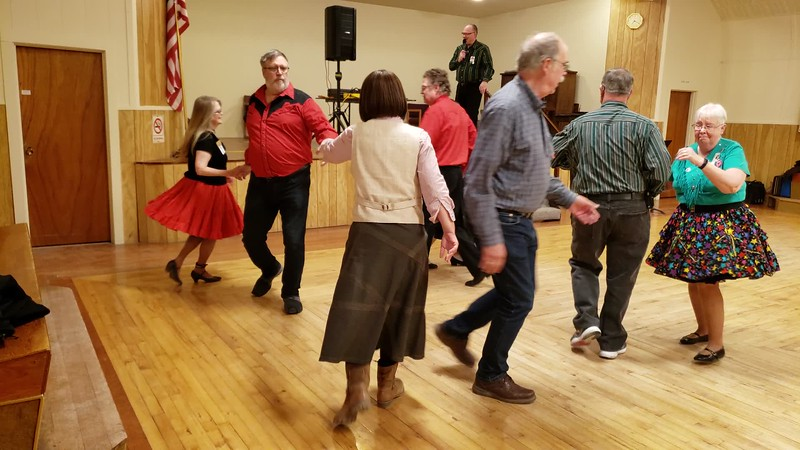 Video. Feb. 22, 2020.  A square of skilled square dancers having fun!