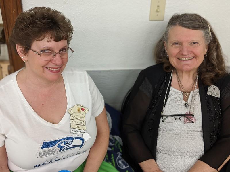 Sue and Theresa ( cuer, visiting from Alaska)