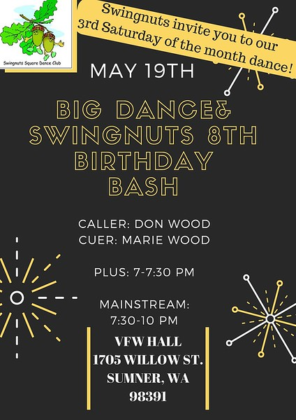 """Birthday Bash"" (and BIG DANCE) - May 2018"