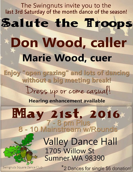 "May 21, 2016 - ""Salute the Troops"" dance"