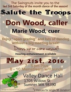"""May 21, 2016 - """"Salute the Troops"""" dance"""