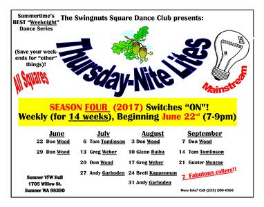 """""""Thursday-Nite-Lites"""" (June-September, 2017)"""