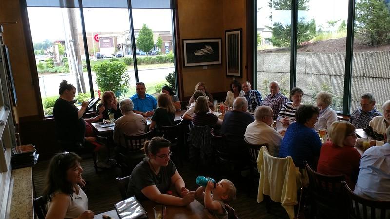 "Swingnuts and guests at Bob's Burgers & Brew ""social"""