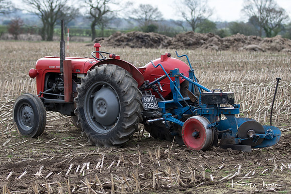 NWR 826A Massey Ferguson 35X and Ransomes plough.