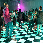 The dance floor was kept busy throughout the event.