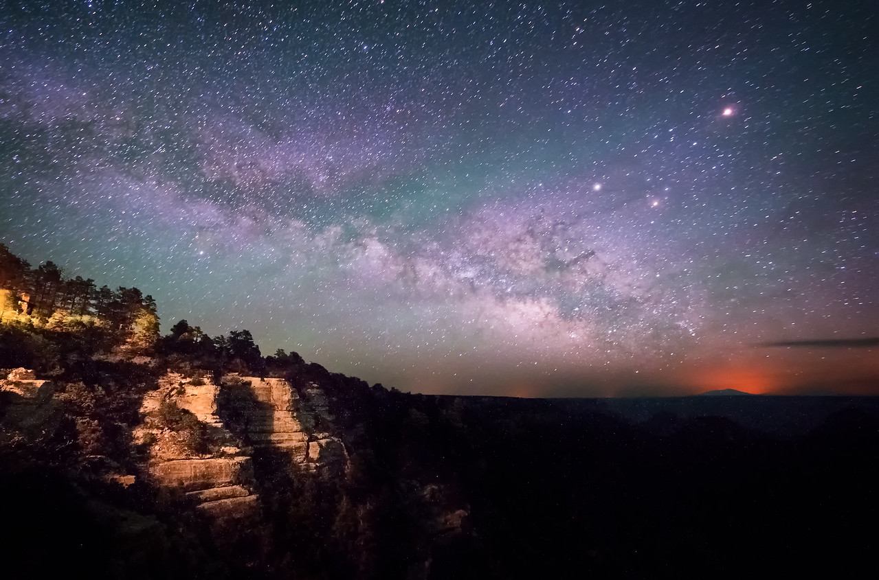 Milky Way rising over the North Rim