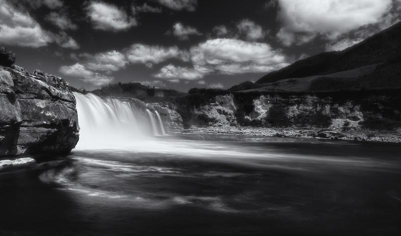 Wisps of a waterfall