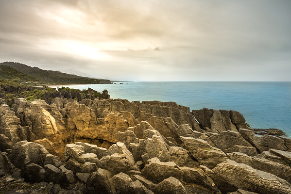 Looking over Pancake Rocks