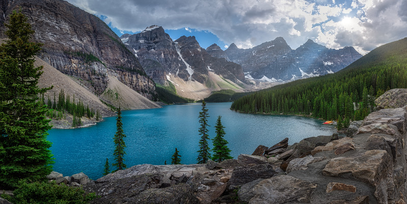 Lake Moraine at Sunset