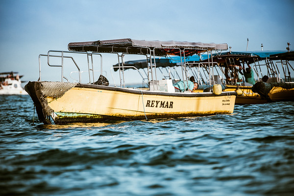 Water taxis in Galapagos Islands