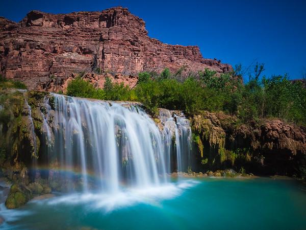 Rainbow over Little Navajo Falls