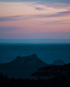 Pastel sunset from the North Rim