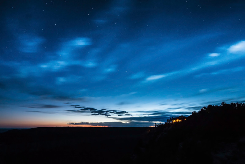 Starry sunset at the North Rim Lodge