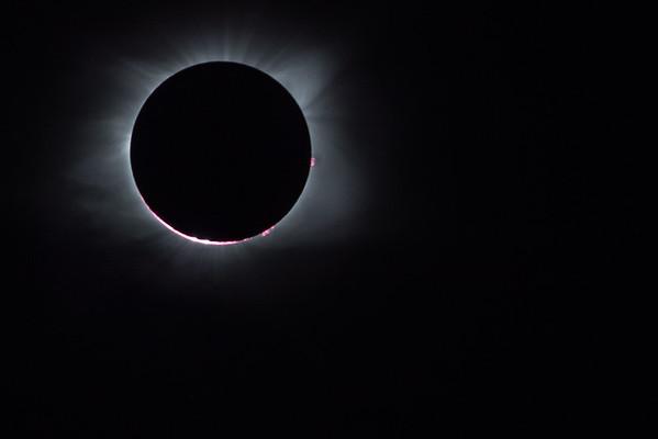 Solar flare eclipse