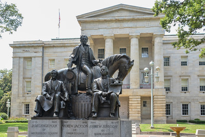 Capital Building Raleigh NC, statue, horse, James Knox Polk, Andrew Jackson, Andrew Johnson