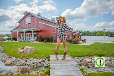 Model Ashley Zung at Carollock farms llc wedding venue