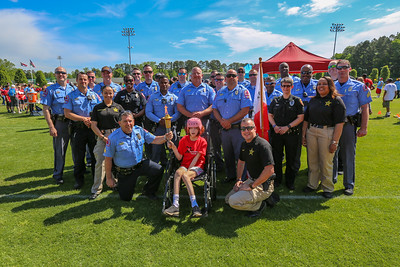 Special Olympics held  at Ravenscroft school with Raleigh Police and Wake County Sheriff Duputies along with Ravenscroft students and teachers and the Knights of Columbus most of all the Athletes