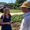 ABC 11 Meteoroloigst Liz Horten and Raleigh city farm CEO Chris Rumbley