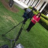 ENG Photographer Phil Thalheimer working Live Stream for WTVD ABC 11 Eyewitness News  with Heather Waliga at the NC Legislative Building