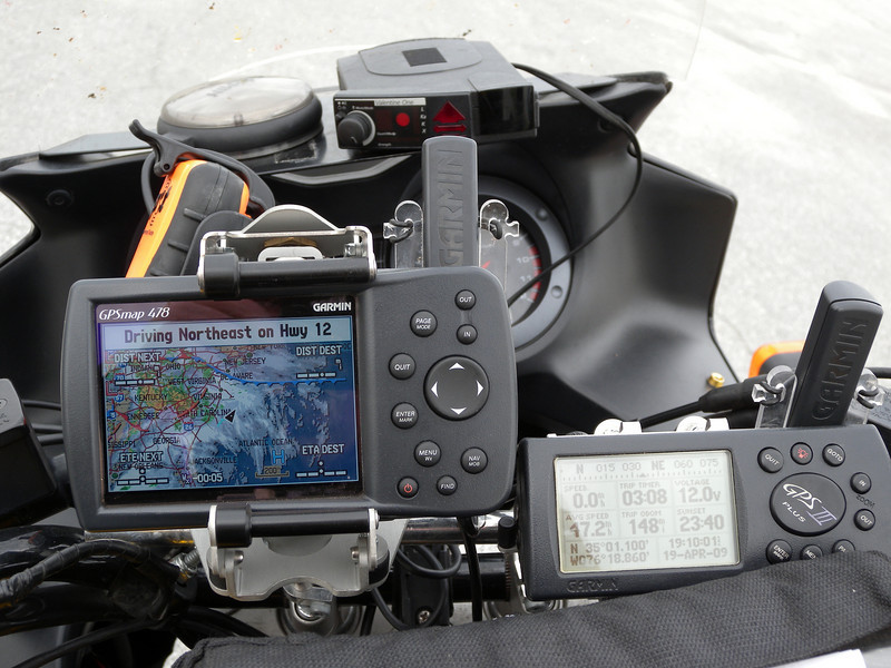 Cockpit of bike in Rally Mode